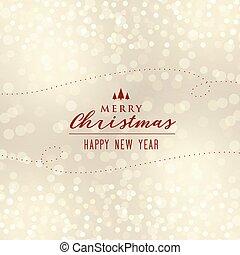 beautiful christmas bokeh background design