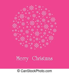 Beautiful Christmas card. A vector image.