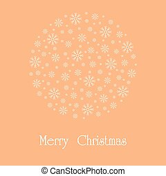 Beautiful Christmas card. Vector.