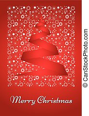 Beautiful Christmas card/posterin red and white