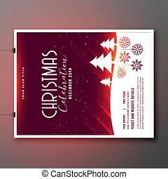 beautiful christmas celebration party flyer template design