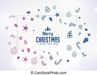 beautiful christmas decoration festival elements background