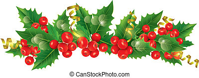 Beautiful Christmas garland. Contains transparent objects....