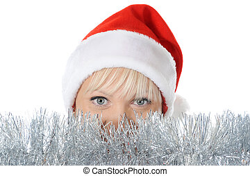 Beautiful christmas girl.