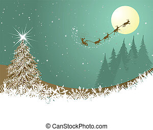 Christmas - Beautiful Christmas (New Year) card. Vector...