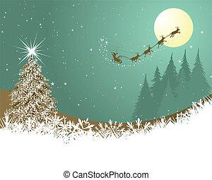 Christmas - Beautiful Christmas (New Year) card. Vector...
