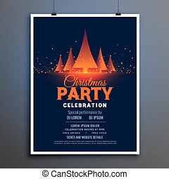 beautiful christmas party celebration flyer design template