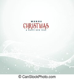 beautiful christmas season background with wavy flowing snowflakes