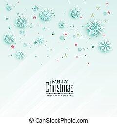 beautiful christmas snowflakes greeting card design