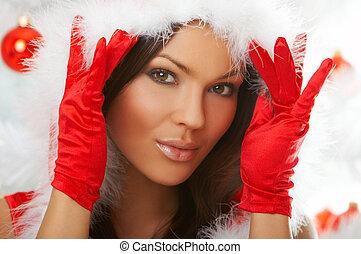 Beautiful Christmas - 20-25 years olf beautiful woman...