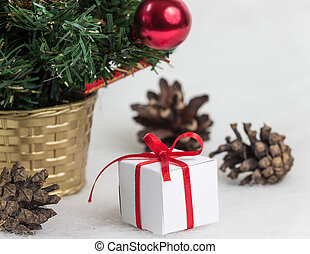 Beautiful christmas tree on white background