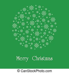 Beautiful Christmas vector card.