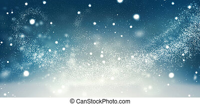 Beautiful Christmas winter holiday snow background