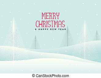 beautiful christmas winter landscape background