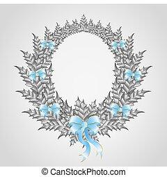 Beautiful christmas wreath with a b