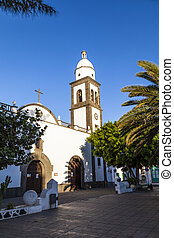 beautiful church San Gines Obispo in Arrecife