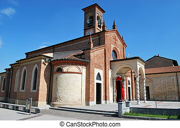 Beautiful church - St. Martino bishop romanic church in a ...