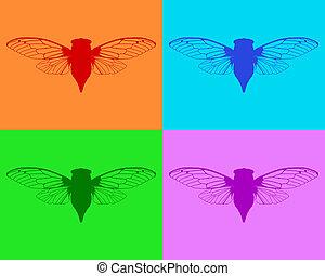 Beautiful cicadas