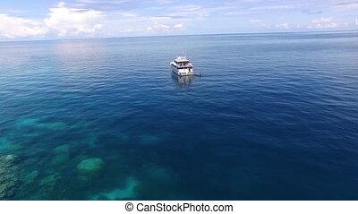 Beautiful cinematic shot of a ship