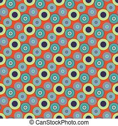 beautiful circles on an orange background seamless pattern