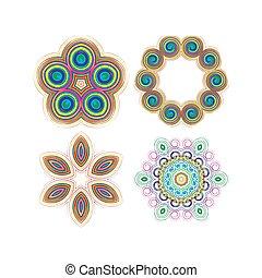 Beautiful circular pattern for your design. Set of circular patterns.