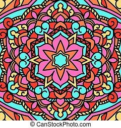 Beautiful circular pattern. Unusual background mandala.