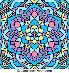 Beautiful circular pattern. Unusual background mandala. -...