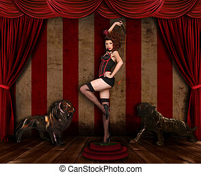 Beautiful Circus Themed Pin Up Sexy Girl
