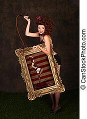Beautiful Circus Themed Pin Up Sexy GIrl