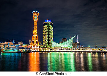 Beautiful cityscape with architecture building and kobe ...