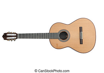 Beautiful classic guitar isolated on white background