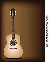 Beautiful Classical Guitar on Dark - Music Instrument, An...