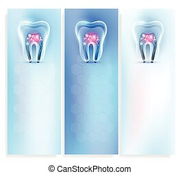 Beautiful clean artistic transparent tooth background