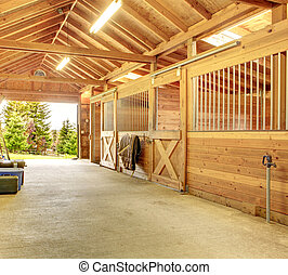 Beautiful clean stable barn - Stable barn with beam ceiling...