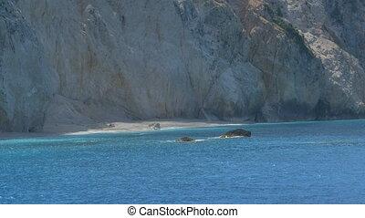 Beautiful Cliffs and Sea - Beautiful azure sea and beach.