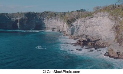 Beautiful cliffs at Broken Beach in Nusa Penida, Bali,...