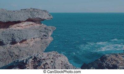 Beautiful cliffs at Broken Beach in Nusa Penida, Bali