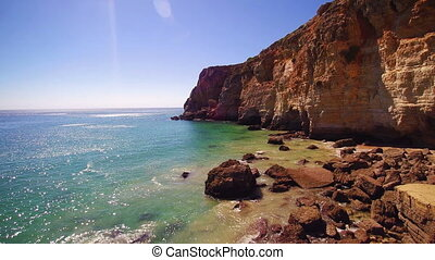 Beautiful cliffs in Algare, Portugal - Beautiful coastal...