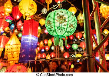 Beautiful close-up international lanterns