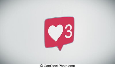 Beautiful Close-up of Social Like Icon With Counter on Web...