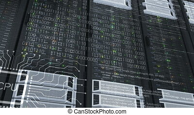 Beautiful Close-up Rack Servers Cloud Computing in Modern...