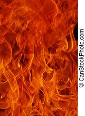 fire - beautiful close up shoot of fire flammes