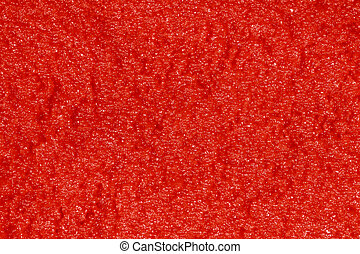 red caviar - beautiful closeup with red caviar on background