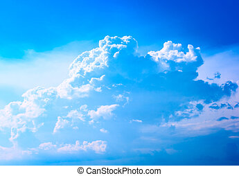 Beautiful cloud among the blue sky