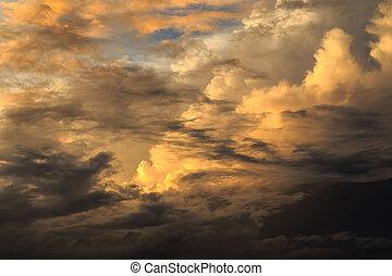 Beautiful cloud at Sunrise time