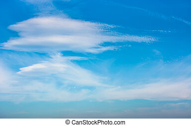 beautiful cloud formation on a blue sky. lovely nature...