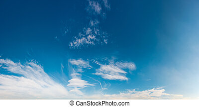 beautiful cloud formation panorama on a blue sky. lovely...