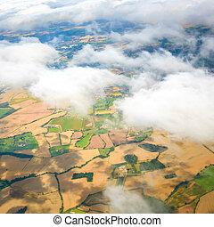 Beautiful cloud sky view from aeroplane window