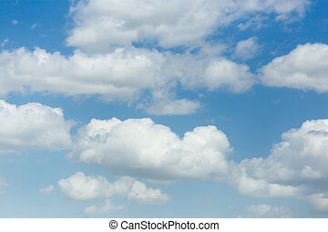 beautiful clouds against blue sky