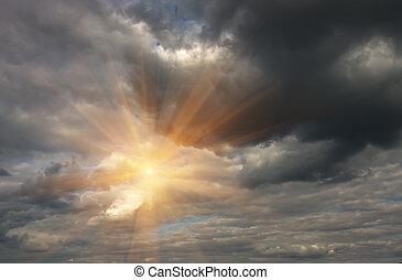 Beautiful Clouds and sun